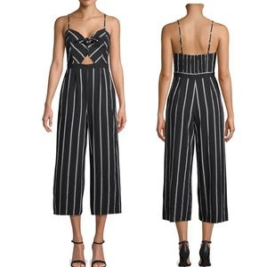 ASTR The Label Striped Bow Jumpsuit (P94)